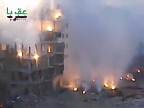 RBK-250 ZAB-2.5 incendiary cluster bomb, thermite. Aqraba, Rif Dimashq, Syria