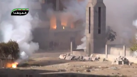 RBK-250 ZAB-2.5 incendiary cluster bomb, thermite. Kafr Batna, Rif Dimashq, Syria