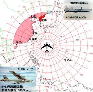 核巡航ミサイルALCMの発射ポイント