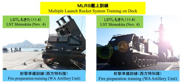 MLRS艦上射撃訓練