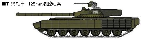T-95 125mm滑腔砲案