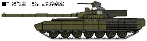 T-95 152mm滑腔砲案