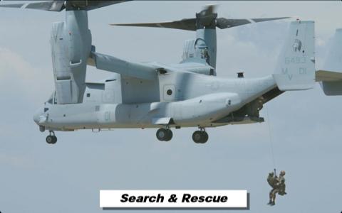 オスプレイ救難訓練